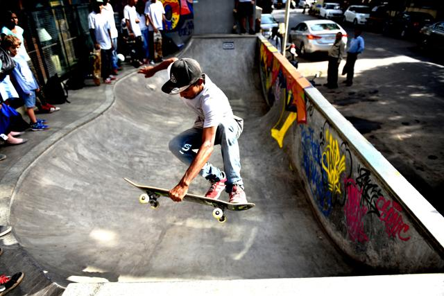 A monthly skateboarders meet-up at Khar Social, Khar, Mumbai