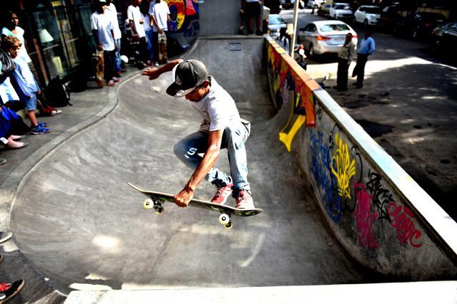A monthly skateboarders meet-up at Khar Social, Khar, Mumbai