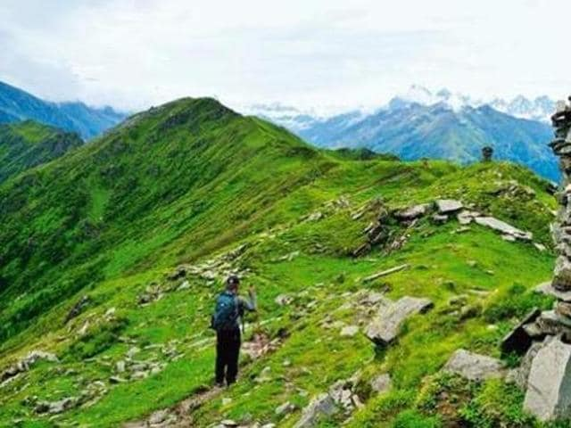 The trekkers started their journey from Manali to Bara Bhangal last week.