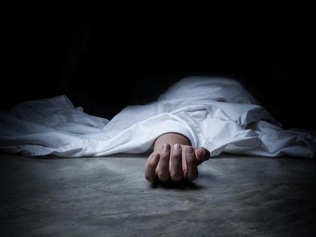Dead body inside freezer