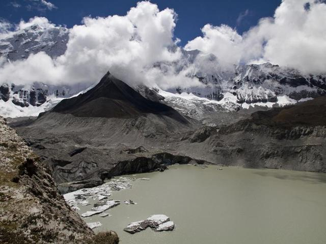 Glacial lake,Nepal,Mount Everest