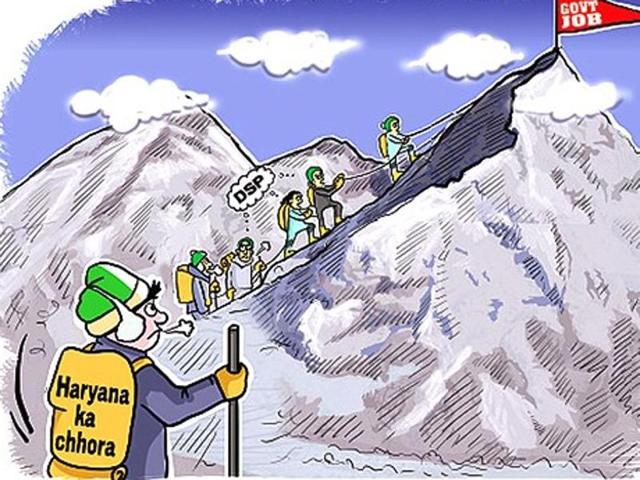 Haryana,police job,Mount Everest