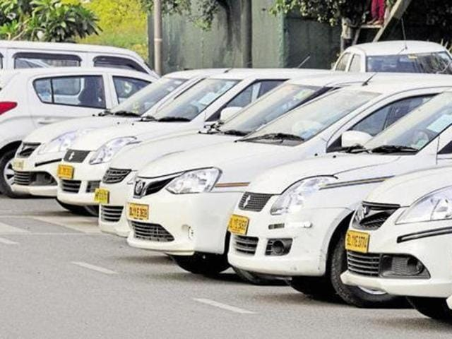 The road transport ministry is working on a proposal to bring taxi aggregators within the regulatory framework of the MV Act under a new category — 'intermediaries'.(HT File Photo)