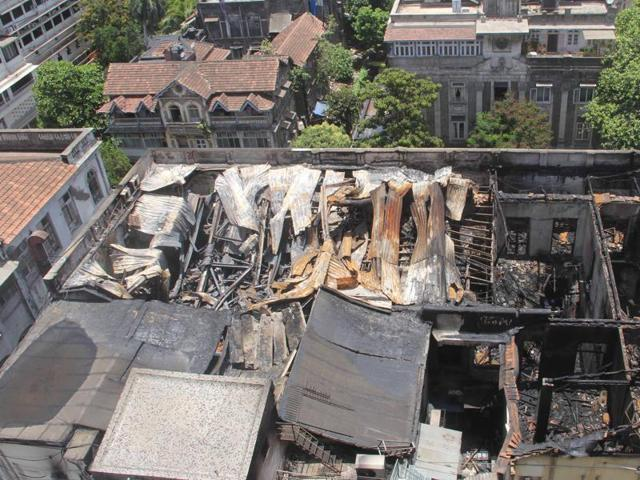 The fire, which broke out on Thursday, damaged the second and third floors completely