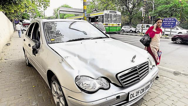 mercedes hit-and-run