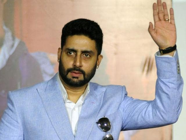 Abhishek Bachchan attend a press conference for Hindi film Housefull 3 in Mumbai on June 2.