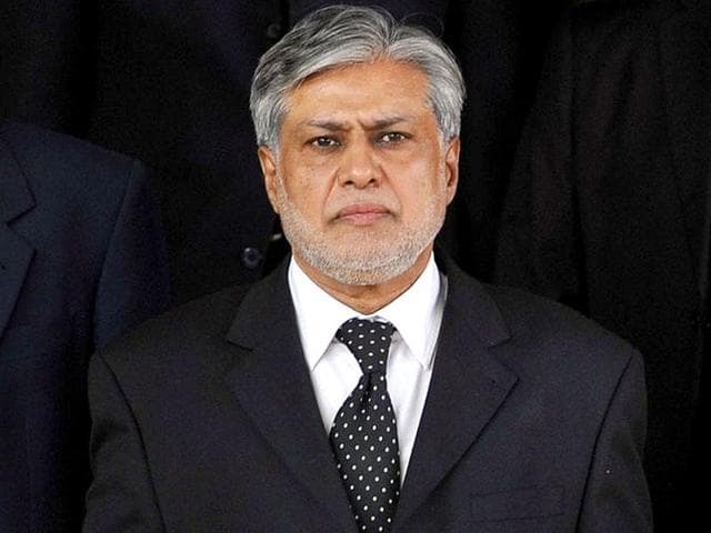 File photo of Pakistan's finance minister Ishaq Dar.