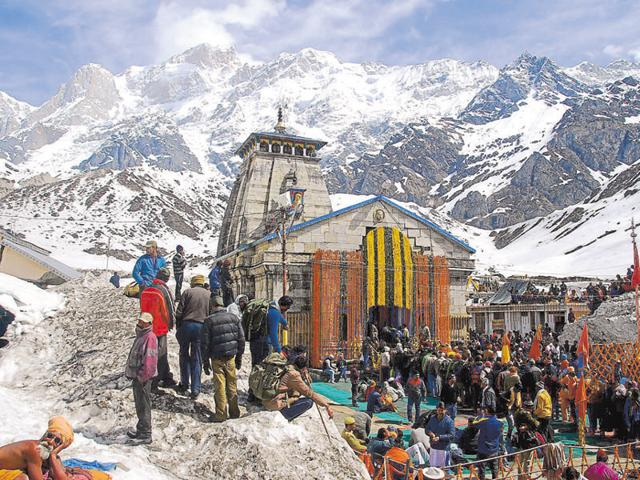 Kedarnath shrine in the district of Rudraprayag.