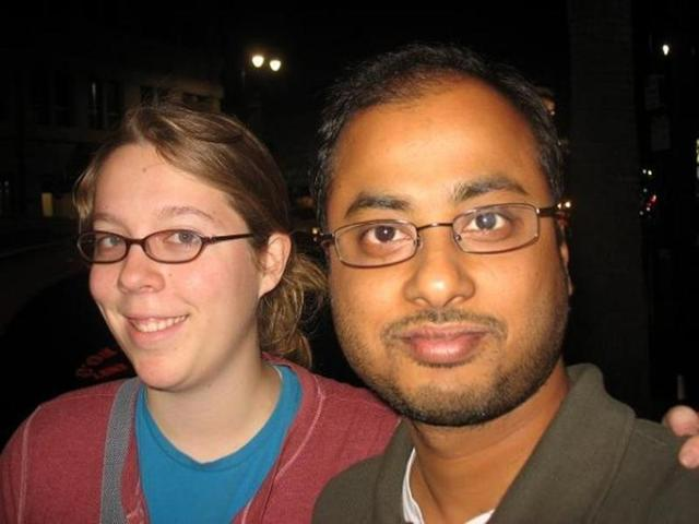 Undated photo shows Ashley Hasti (left) and Mainak Sarkar, who police say carried out a murder-suicide at the University of California, Los Angeles, on Wednesday. Sarkar had a