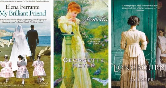 I am a tad nervous about how Elena Ferrante's Neapolitan quartet (to be adapted into a TV series) and Jo Baker's novel, Longbourn, (to be made into a movie) will survive the transition; the one author whose works I long to see on television is Georgette Heyer
