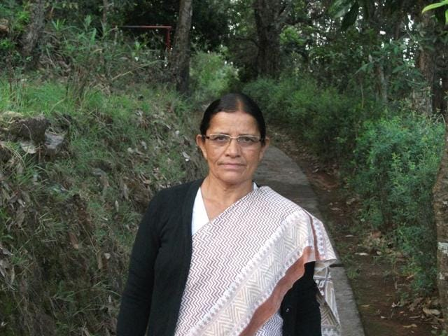 Basanti Behan was awarded the Nari Shakti Samman this year by the president's office for her efforts to save the Kosi river.(HT Photo)