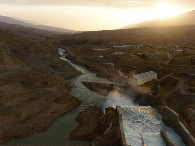 In this photograph taken on June 2, 2016, the Salma Hydroelectric Dam is seen at Chishti Sharif in Afghanistan's Herat province.