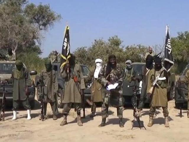 A file photo of Boko Haram militants (AFP Photo)
