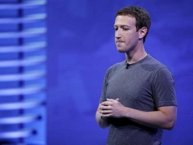 Facebook CEO Mark Zuckerberg speaks on stage during the Facebook F8 conference in San Francisco, California.