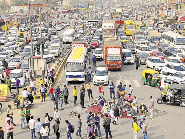Last time, though there was no violence in Gurgaon, protesters blocked several important Gurgaon roads.
