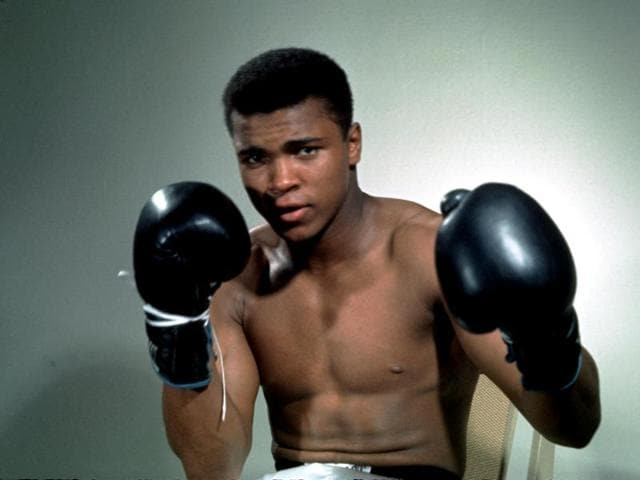 Muhammad Ali (formerly Cassius Clay) trains at his Pennsylvanian mountain retreat in Owigsburg, Pennsylvania, for his fight against George Foreman in Zaire in 1947.