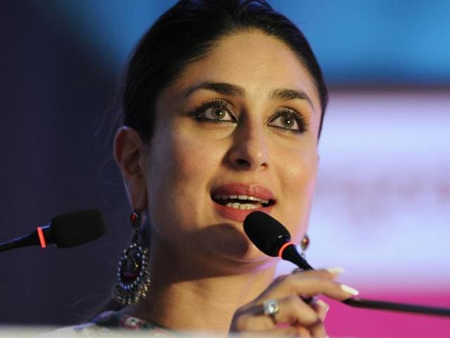 MP Dimple Yadav and Bollywood actor Kareena Kapoor at the event 'Celebrating Menstrual Hygiene for all Girls, for all Women' in Lucknow on Saturday June 04, 2016.