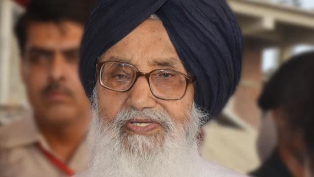 Punjab chief minister Parkash Singh Badal
