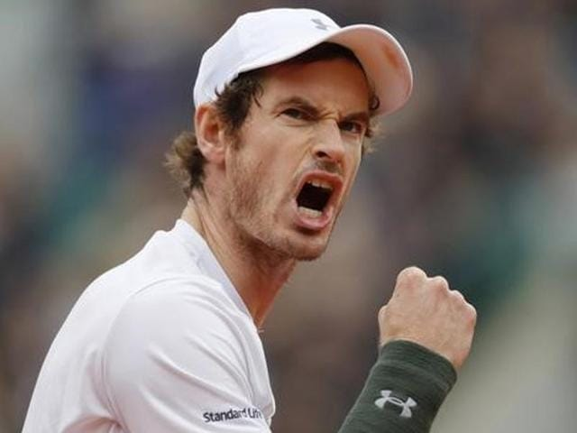 Murray reacts during French Open 2016.