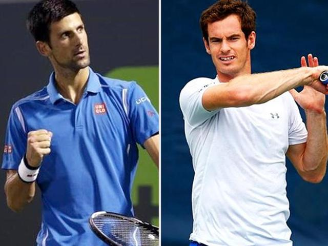 Novak Djokovic and Andy Murray will face each other  in a seventh Grand Slam final on Sunday.