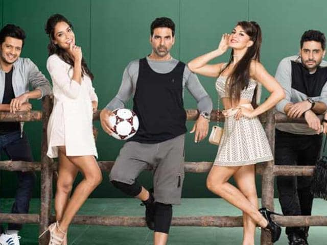 Akshay Kumar, Jacqueline Fernandez and Riteish Deshmukh are back with Housefull 3 along with new joinees to the franchise -  Abhishek Bachchan, Lisa Hayden and Nargis Fakhri.
