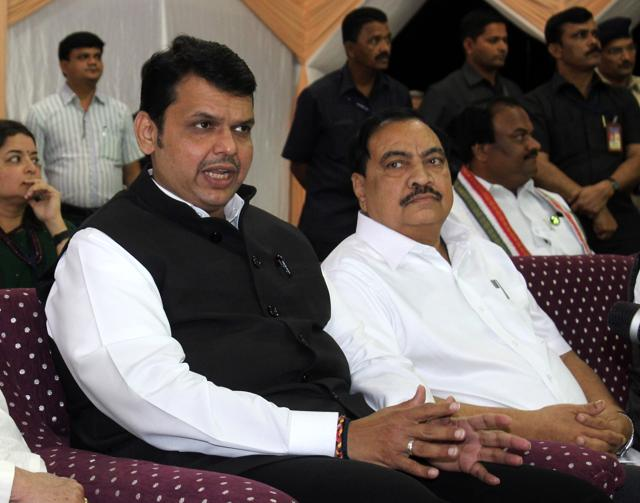 One of the takeaways from the Eknath Khadse episode is that having an upright man such as Maharashtra chief minister Devendra Fadnavis (left) at the top is no guarantee that the entire team he leads will be equally honest.