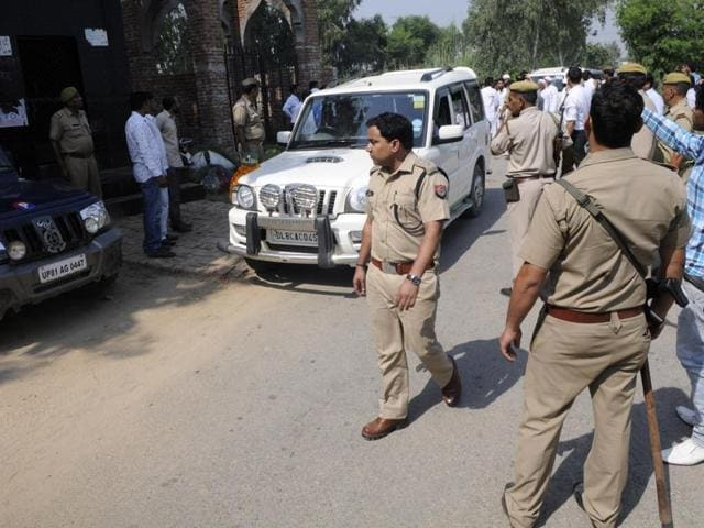 Residents of Bishada village in Dadri on Sunday met the Gautam Budh Nagar SSP to press their demand for registration of an FIR against Mohammad Akhlaq's family for alleged cow slaughter, following which he ordered a probe into the charge.