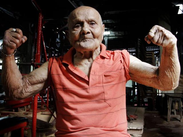 "Manohar Aich  won the Mr Universe title in 1952, and was given the name ""Pocket Hercules""."