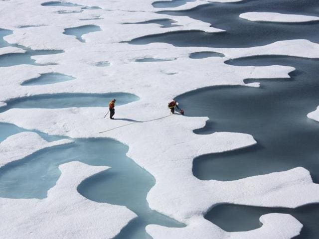 Data shows there was just over 11.1 million square kilometres of sea ice in the region on June 1 this year — a significant decrease from the average for the last 30 years — 12.7 million square kilometres.
