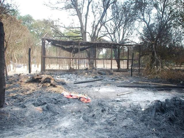 The Jawahar Bagh is in tatters after Thursday's clashes.