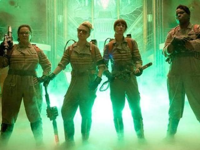 Melissa McCarthy, Kristen Wiig, Kate McKinnon and Leslie Jones star in the Sony reboot as the eponymous Ghostbusters.
