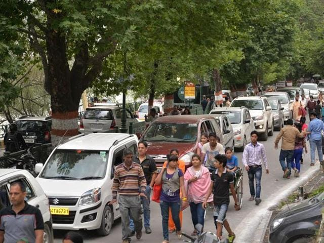 The famous hill station is bursting at the seams as up to 50,000 vehicles are reaching the city on weekends and all hotels are filled to capacity.
