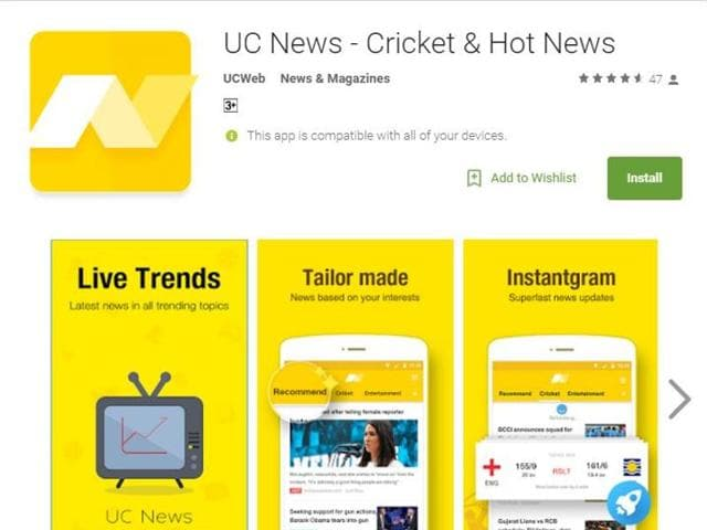 UC Browser has launched its free news app