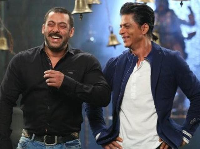 Salman andShah Rukh shot together for a sequence of last year's season of Bigg Boss.