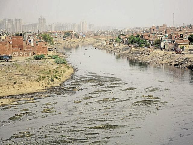 Many areas in Ghaziabad, including Hindon floodplains, have been encroached upon for setting up shanties and shops.