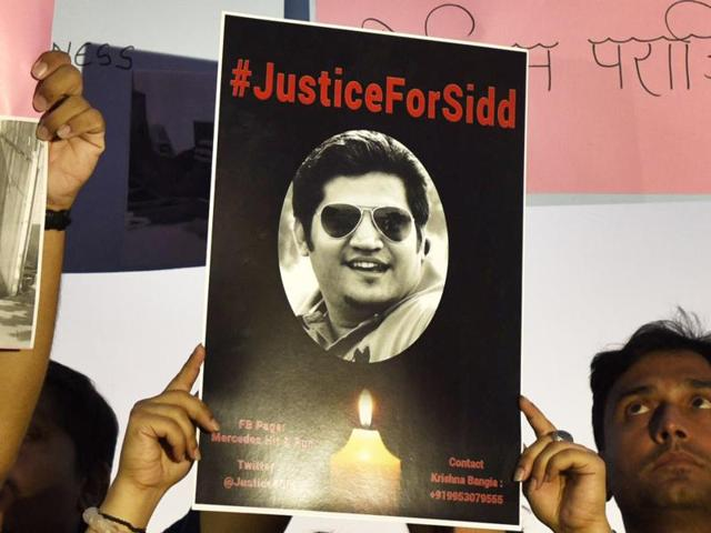 Siddharth Sharma was killed on April 4 when a 17-year-old driving his father's Mercedes ran over him in New Delhi.