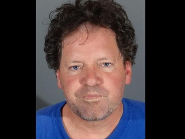 Police mugshot of Roger Clinton after he was arrested for driving under the influence