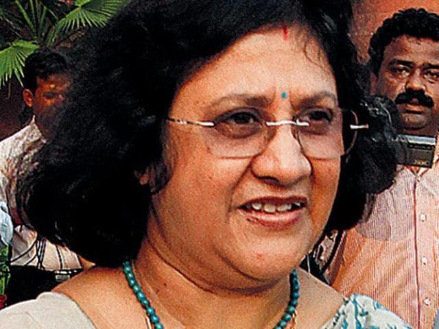 Arundhati Bhattacharya, State Bank of India chief.