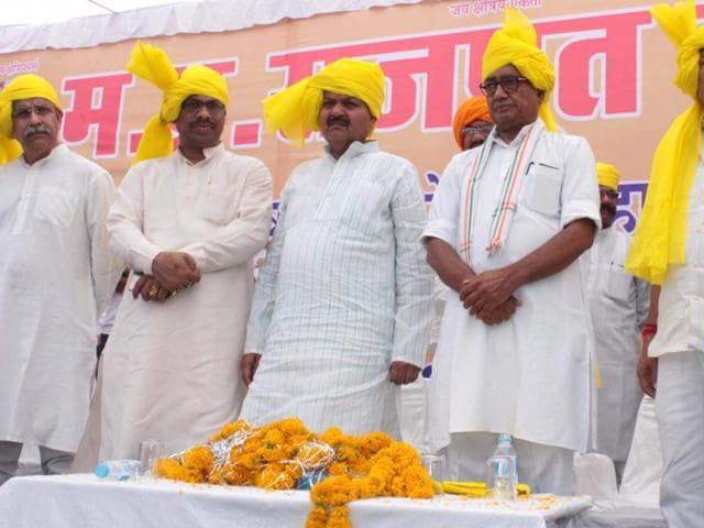 AICC general secretary Digvijaya Singh attended a function organised to mark the birth anniversary of Maharana Pratap, in Bhopal on Tuesday.