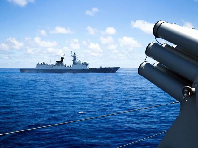 South China Sea,India-US-Japan naval drill,China