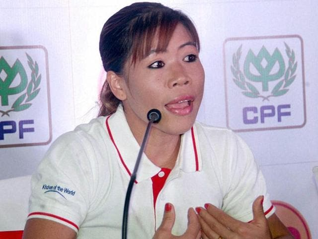 Indian boxer  MC Mary Kom.