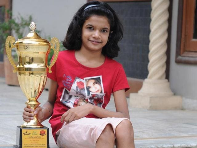 Navya Tayal, astudent of class 7, defeated a 19-year-old player to win the Haryana women's chess title in the open category.