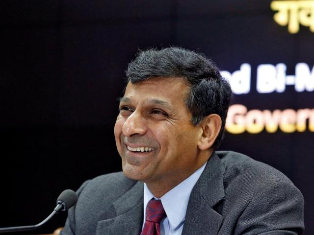 Reserve Bank of India (RBI) governor Raghuram Rajan attends a news conference after their bimonthly monetary policy review in Mumbai.