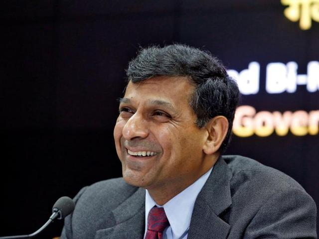 Reserve Bank of India (RBI) governor Raghuram Rajan during a news conference after their bimonthly monetary policy review in Mumbai on Tuesday.