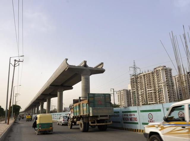 The Uttar Pradesh government wants that the 30-km under- construction Noida-Greater Noida metro link be included in the 'fast-track projects of Prime Minister's progress list'.