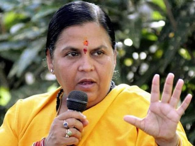 Uma Bharti said the country was already on course to become 'Congress -mukt'.