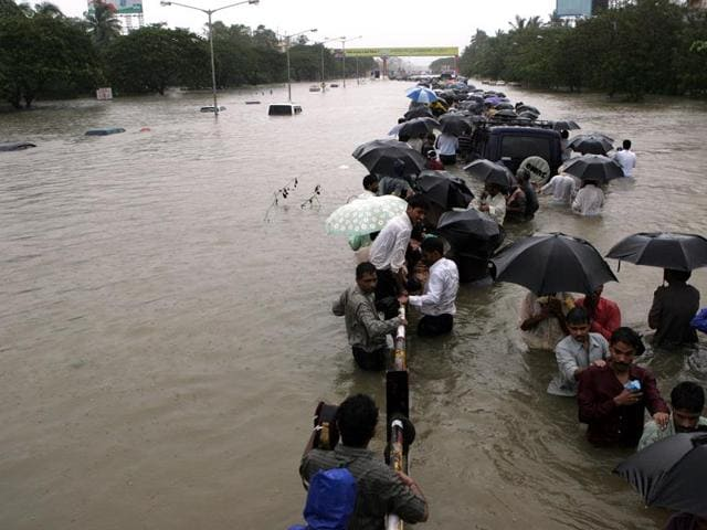 A file photo of Dadar in Mumbai floods of 2005.