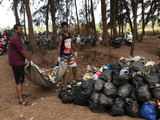 People across all age groups took part in the cleanliness drive which will take place on three more Sundays.