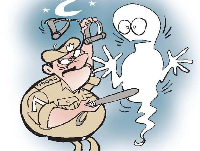 The goof-up came to light recently when a Keranjiya police team reached Singh's house in Dindori's Chaura Dadar village to execute the arrest warrant only to be told by Singh's widow Kusum Kali that her husband had died in October 2012.(Illustration: Jayanto)