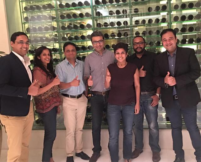 Umang Bedi (extreme right) along with the Facebook India team